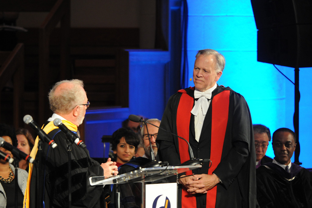 Description of . Fuller Theological Seminary celebrated the inauguration of its Fifth President, Mark Labberton, on Wednesday at First United Methodist Church in Pasadena Wednesday, November 6, 2013.(Photo by Walt Mancini/Pasadena Star-News)