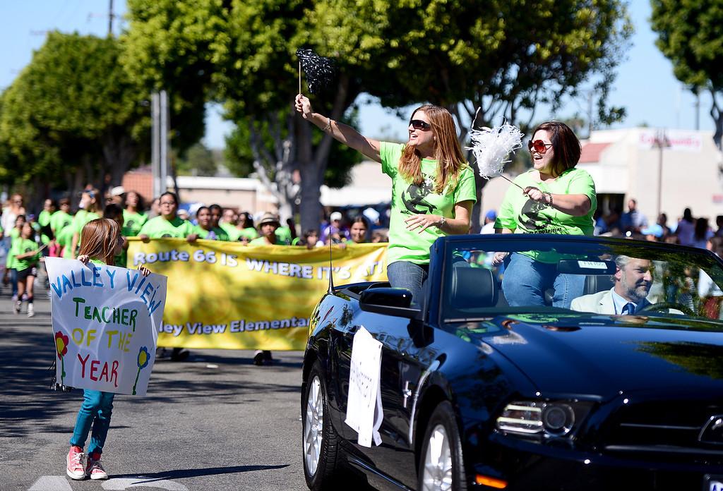 Description of . City of Duarte hosts its annual Route 66 Parade along Huntington Drive, on Saturday, September 28, 2013. (Photo by Sarah Reingewirtz/Pasadena Star-News)