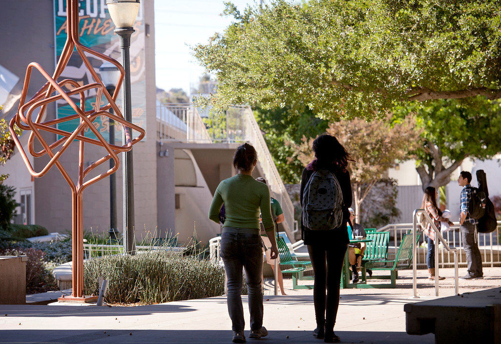 Description of . The University of La Verne has received national accolades from several organizations for being a safe and bike-friendly campus.  Students are pictured at the La Verne, Calif. campus Nov. 25, 2013.  (Staff photo by Leo Jarzomb/San Gabriel Valley Tribune)