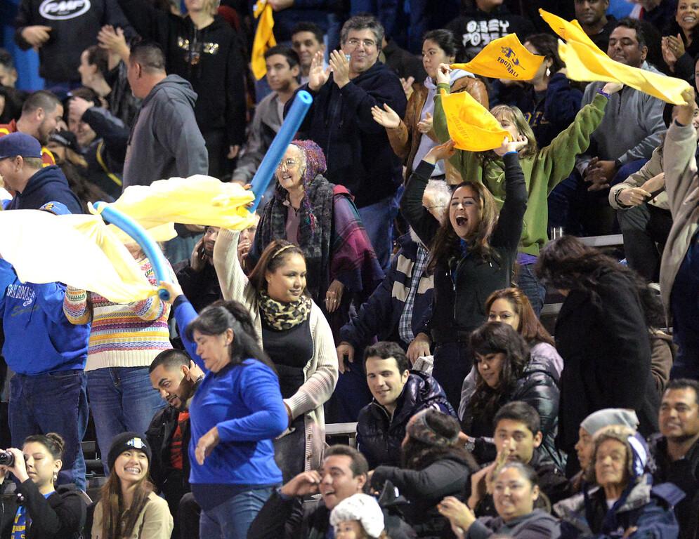 Description of . Arroyo plays San Dimas in their CIF Semi-Final football game at Arroyo High School in El Monte on Friday November 29, 2013. San Dimas defeated Arroyo 61-28. (San Gabriel Valley Tribune/Staff Photo by Keith Durflinger)