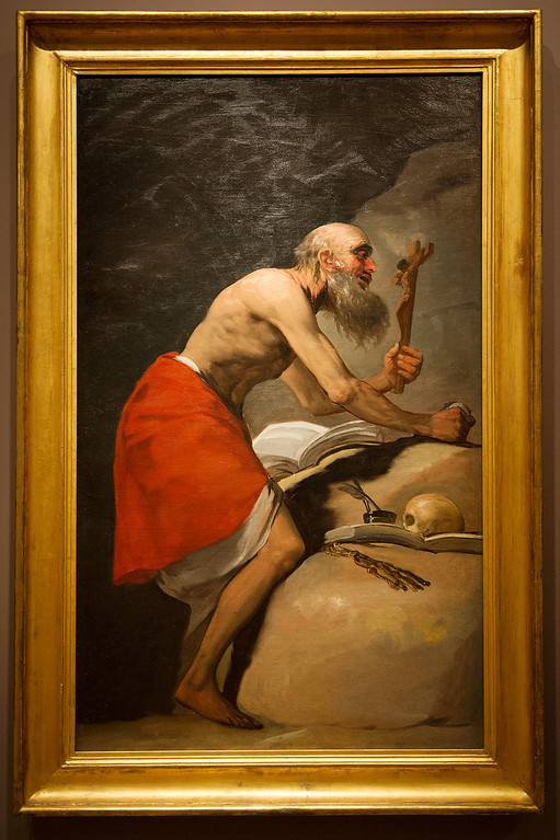 Description of . Francisco de Goya y Lucientes (Spanish, 1746-1828) St. Jerome in Penitence, 1798 Oil on canvas