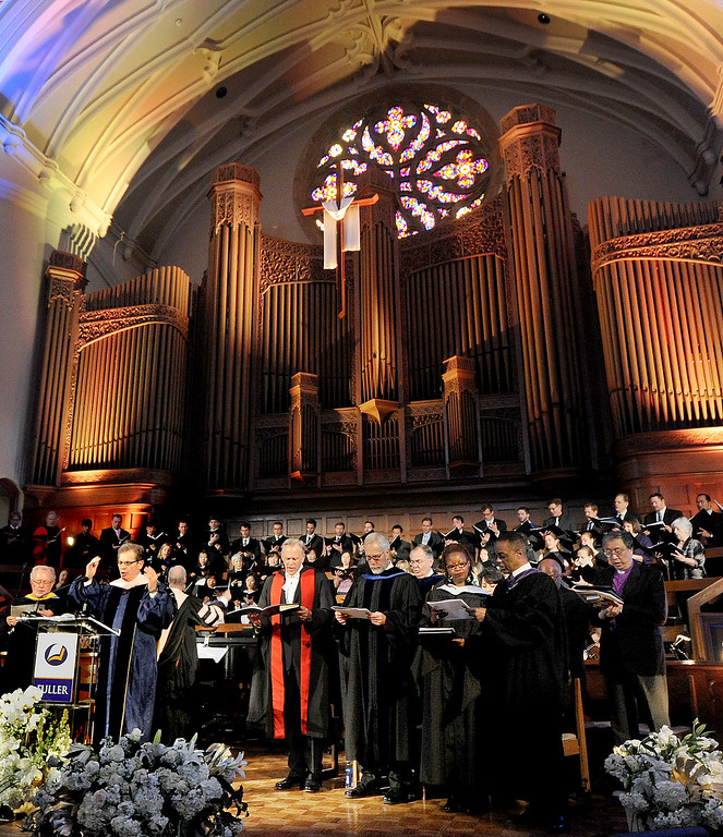. Fuller Theological Seminary celebrated the inauguration of its Fifth President, Mark Labberton, on Wednesday at First United Methodist Church in Pasadena Wednesday, November 6, 2013.(Photo by Walt Mancini/Pasadena Star-News)