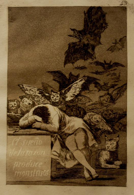 """. Goya\'s. \""""The Sleep of Reason Produces Monsters\"""" First edition, 1799"""