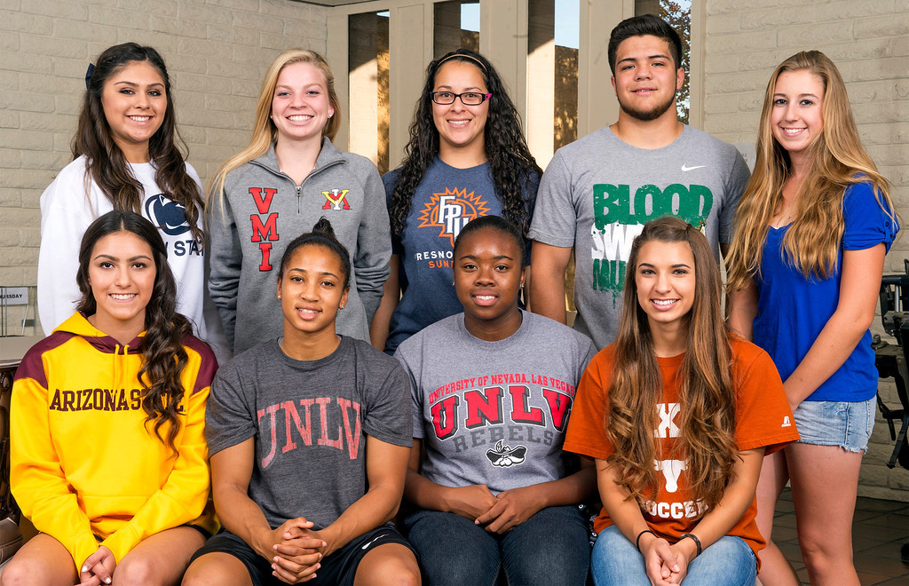 . San Gabriel Valley Tribune area athletes that signed college letter of intent are pictured at the West Covina, Calif. office Nov. 13, 2013.  (Staff photo by Leo Jarzomb/San Gabriel Valley Tribune)