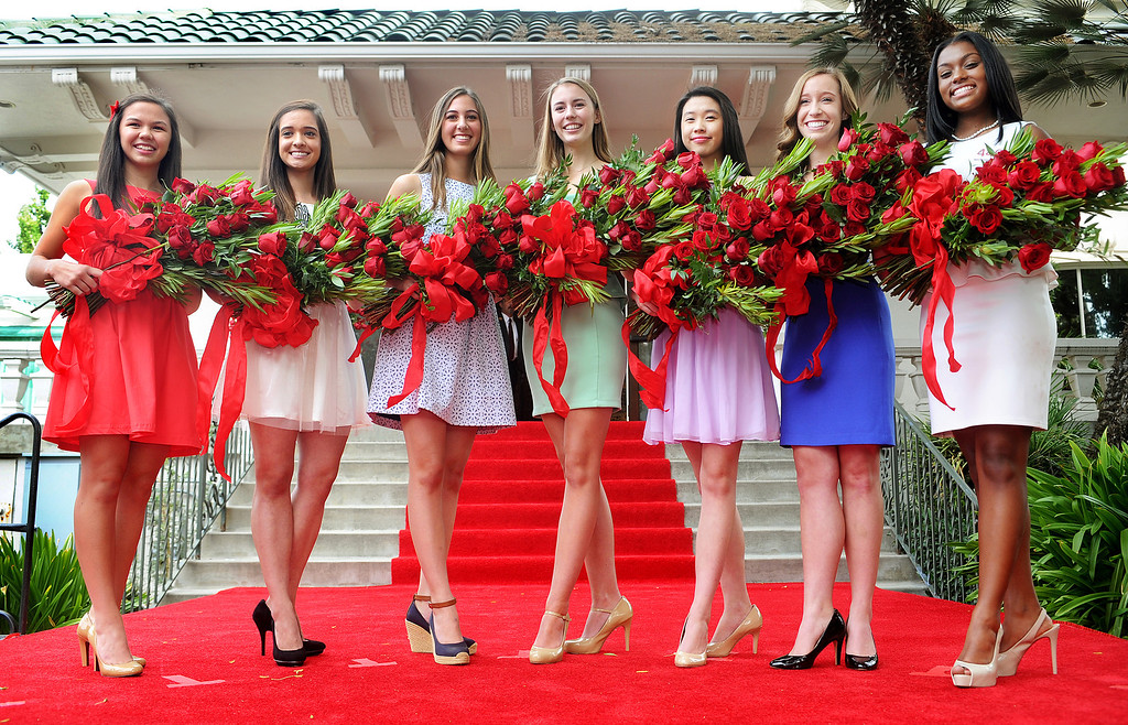 . 2014 Royal Court members, Jamie Ann Kwong,17, La Salle High School, Sarah Elizabeth Hansen, 19, Pasadena City College, Ana Marie Acosta, 17, Polytechnic School, Katherine Diane Lipp, 17, La Canada High School, Elyssia Hadi Widjaja, 17, San Marino high School, Elizabeth Katie Woolf, 17, La Canada High School, Kayla Diyana Johnson-Granberry, 17, Pasadena High School.The seven members of the 2014 Tournament of Roses Royal Court were announced Monday, October 7, 2013. Selected from a group of 30 finalists, the Royal Court will attend more than 100 community and media functions. Their reign culminate with the 125th Rose Parade and the 100th Rose Bowl Game.(Walt Mancini/Pasadena Star-News)